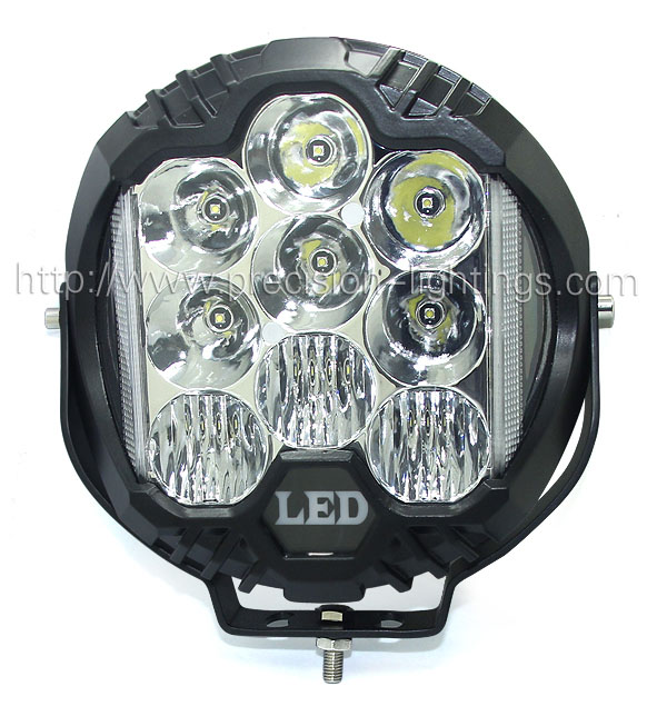PL-9 inch 60W 3-side-shine LED Diving light with DRL