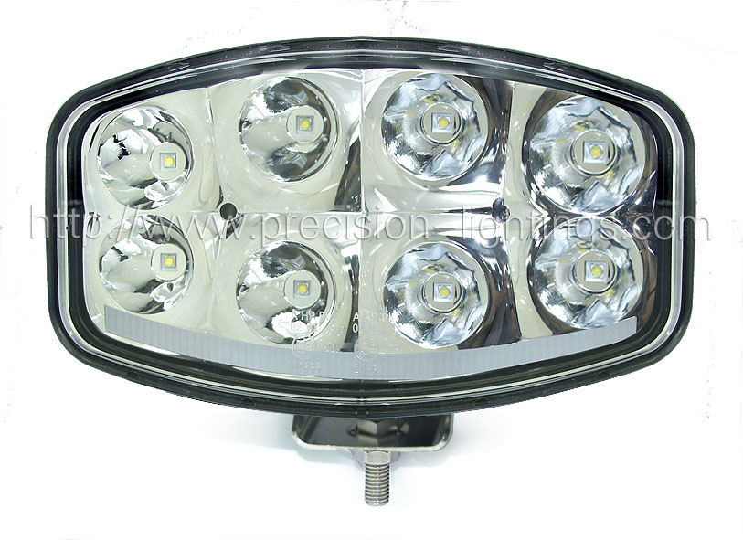PL-64W Oval LED driving light with daylight+dual side shine (ECE-R10/E-MARK Proved)